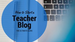 start a teacher blog