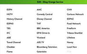 Sling Orange channels