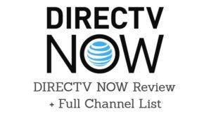 DIRECTV NOW channels list