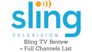 Sling TV Channels List