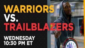 warriors vs trailblazers live stream