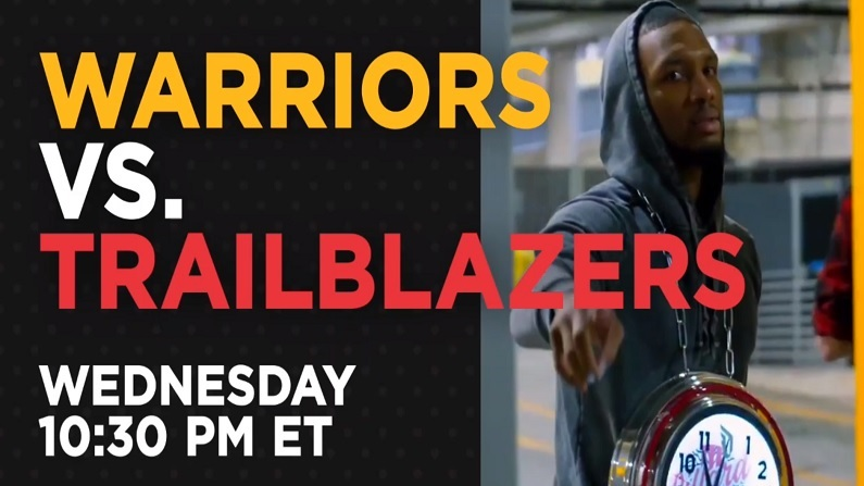 warriors vs trailblazers live stream