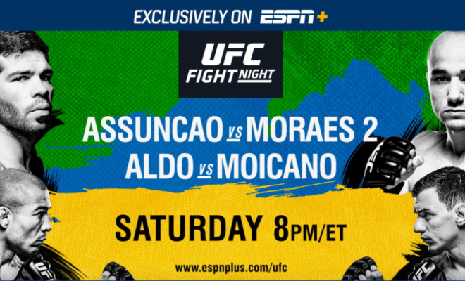 watch ufc fight night assuncao vs moraes 2 online