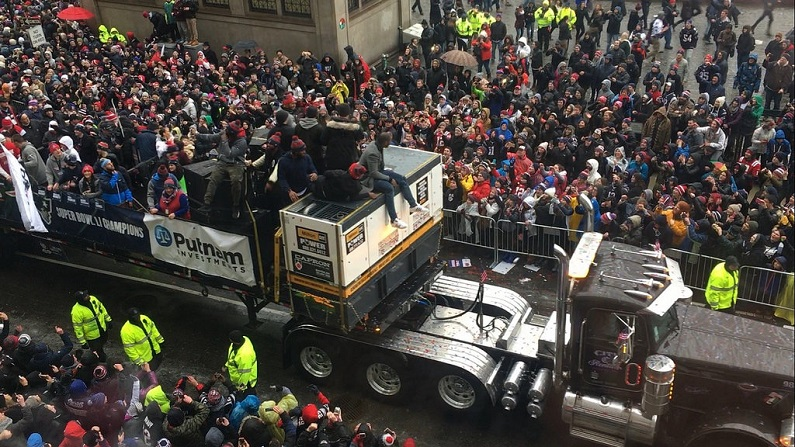 watch patriots super bowl parade online